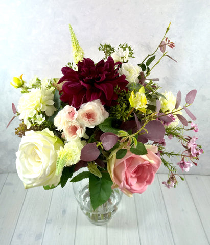 102 Dahlia and Rose Arrangement