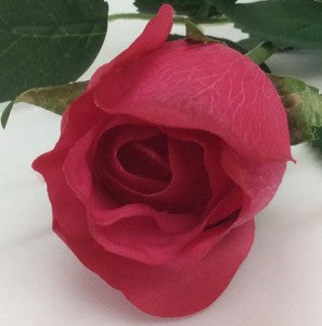 Rose - Real Touch - Open Bud - Fuchsia