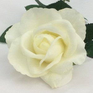 Rose Open Bloom - Real Touch - Cream