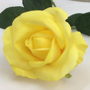 Rose Open Bloom - Real Touch - yellow
