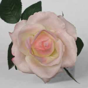 Rose Open Bloom - Real Touch -Light Pink