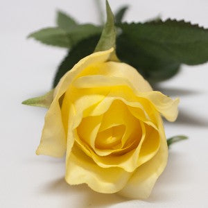 Rose - Real Touch - Open Bud - Yellow