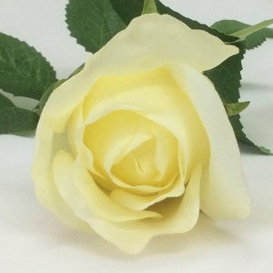 Rose - Real Touch - Open Bud - Cream