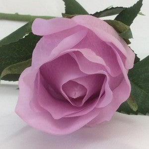Rose - Real Touch - Open Bud - Vintage Lilac
