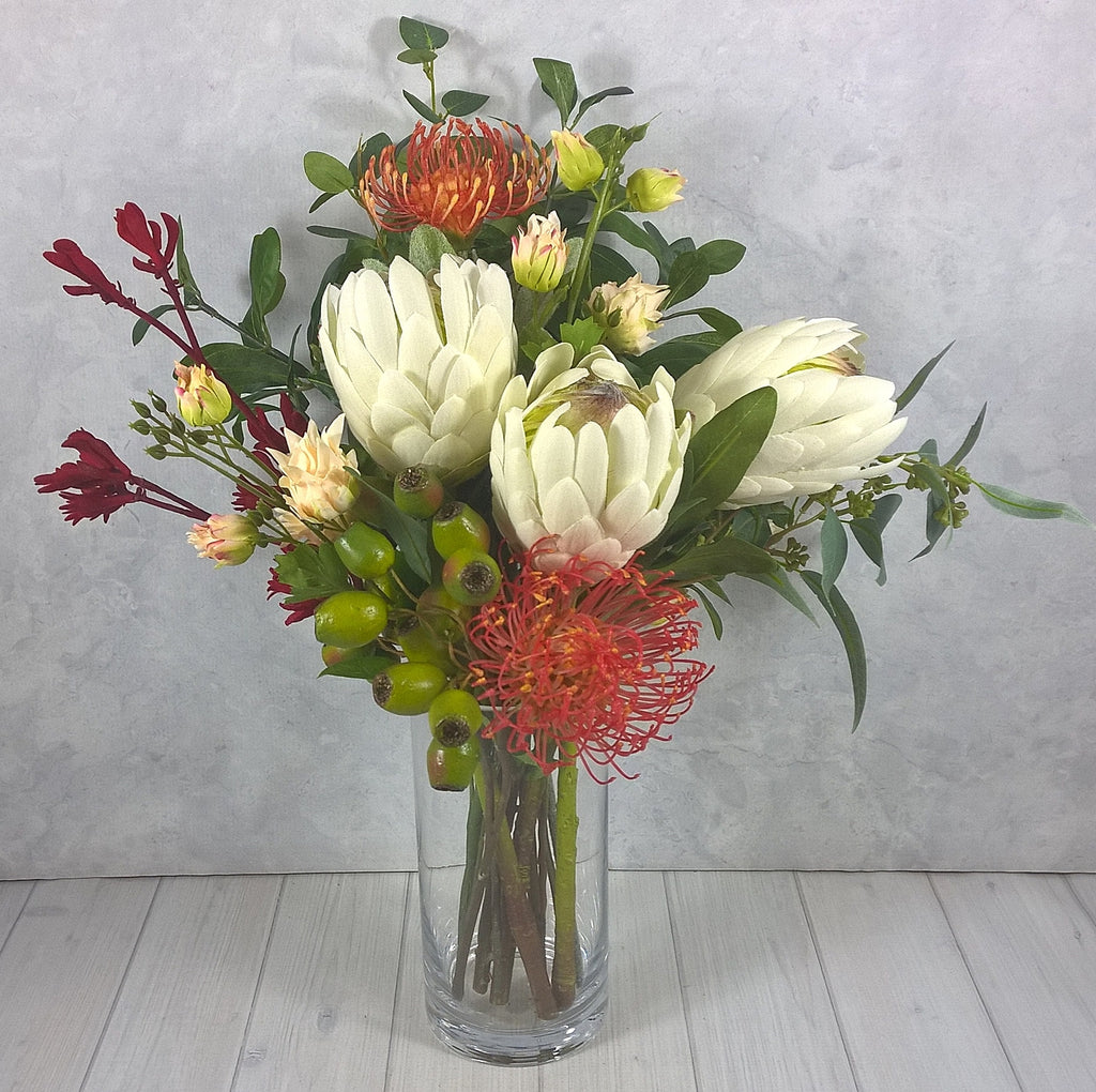 V127  -  In vase with artificial water $229  or Hand-tied  $179