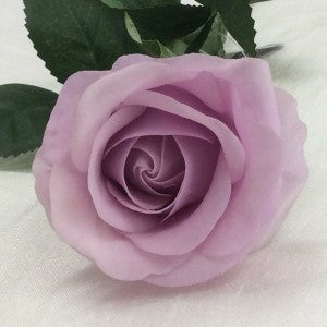 Rose - Real Touch - Half Bloom - Vintage Lilac