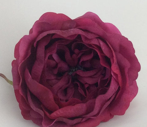 Peony Half Bloom Real Touch - Burgundy