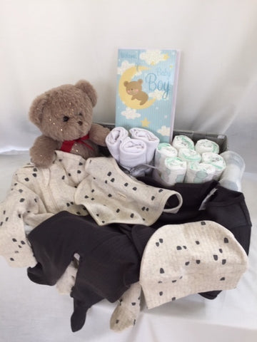 Baby Boy Gift Hamper - Brown Teddy