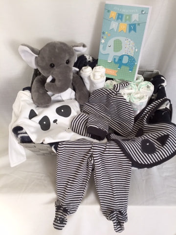 Baby Boy Gift Hamper - Grey Elephant