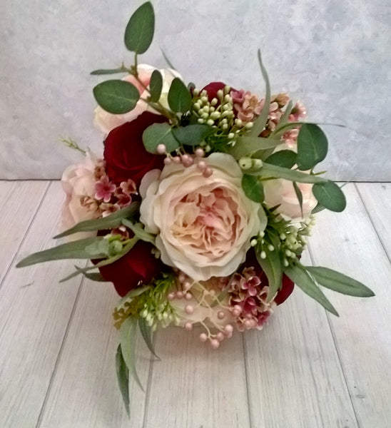 Rebecca Red and Pink Bridal Bouquet $165