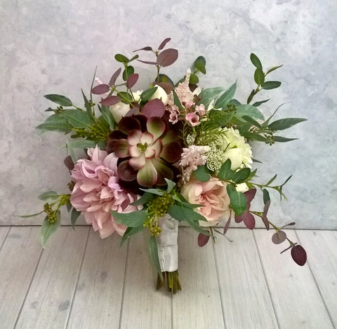 Heather Bridal Bouquet $165