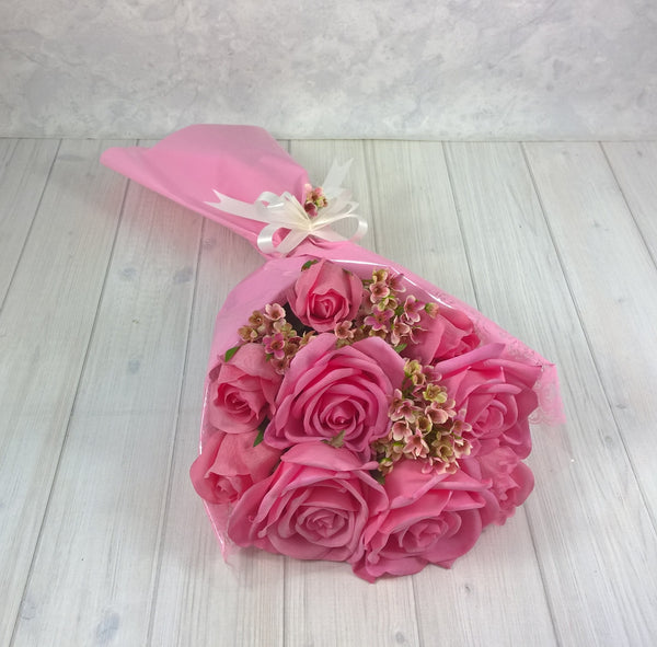 Gift Bouquet 1- Open Rose -Real Touch