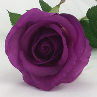 Rose - Real Touch - Half Bloom - Purple