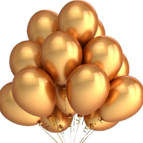 Gold Balloons 10pcs/lot 12 Inch Thick 2.8g Inflatable Latex Helium Balloons Wedding Happy Birthday Party Decoration Air Balloons