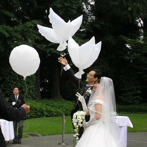 10pcs/lot Eco Flying White Dove Balloons Helium Pigeon Wedding Decoration Globos Peace Bird Air Ball Party Supplies Photo Props - UrbanBalloons.COM