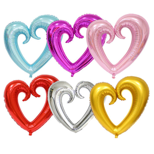 100cm*108cm   light 1pcs Large hook heart shape foil balloons  heart balloon wedding party decoration marriage balloons - UrbanBalloons.COM