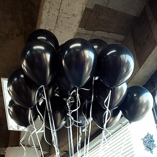 10pcs/lot 1.5g Black Latex Balloon Air Balls Inflatable Wedding Party Decoration Birthday Kids Party Float Balloons Classic Toys