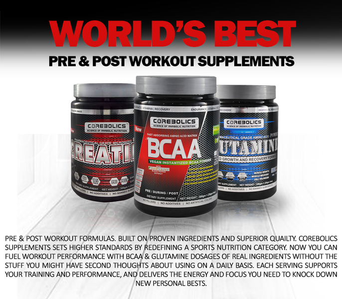 World'S Best Pre-Post Workout supplements