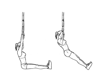 TRX ONE AND A HALF PULL UPS