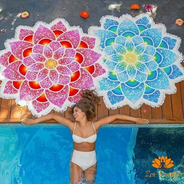 Tapis de méditation mandala fleur de lotus - Zen-Powerful