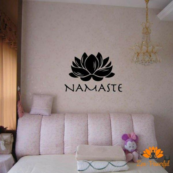 Stickers namasté fleur de lotus - Zen-Powerful