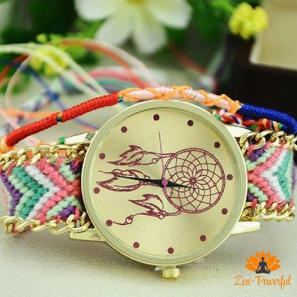 Montre mandala attrape rêve - Zen-Powerful