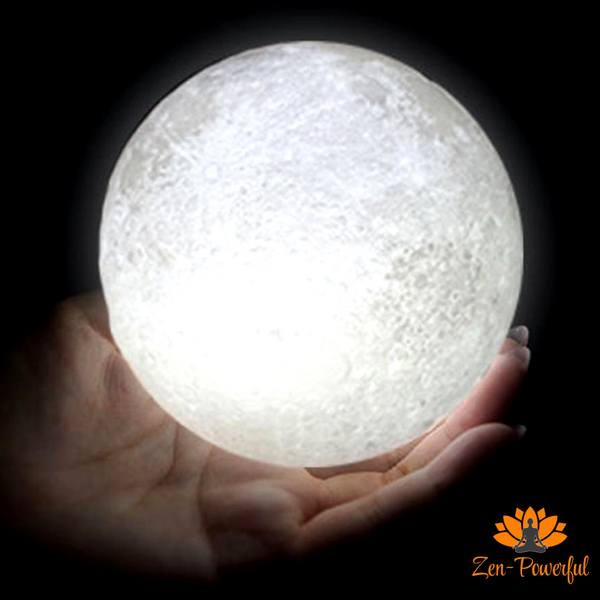 Lampe lune 3D - Zen-Powerful
