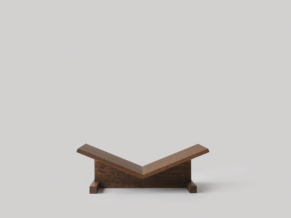 Bookstand in smoked oak by Caché (Denmark)