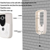 VIDEO DOORBELL (WIFI - NETWORK). See who's there when you're not there!