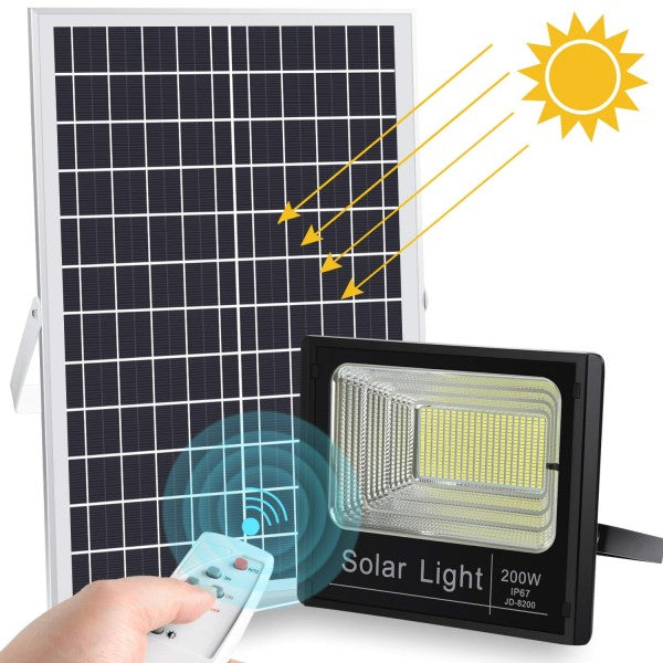 SQI. 200W LED Solar Floodlight Waterproof
