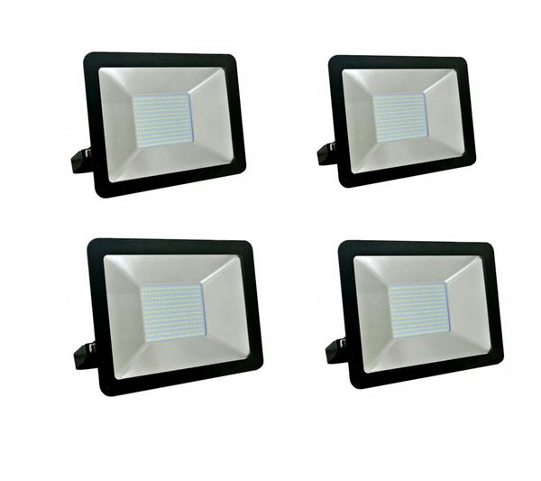 100W Slim LED Flood Light - Set of 4 [Free Delivery]