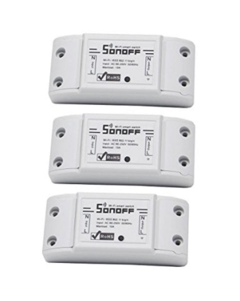 3 Pack Sonoff WIFI Smart Switch