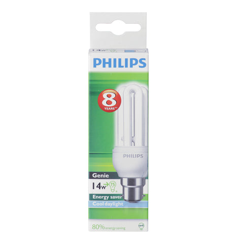 PHILIPS 14W 14 W Energy Saver Globe Cool White