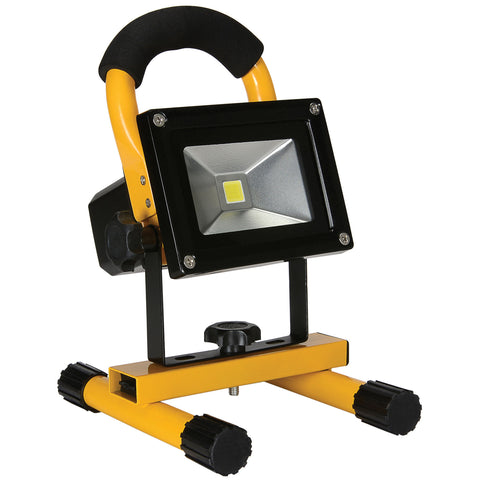 10W Rechargeable Led Flood Light With Wall And Car Chargers