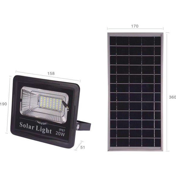 LED SOLAR FLOODLIGHT 20W