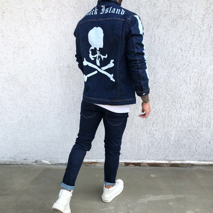 GEACA DENIM PRINTATA - REVERSE WORLD