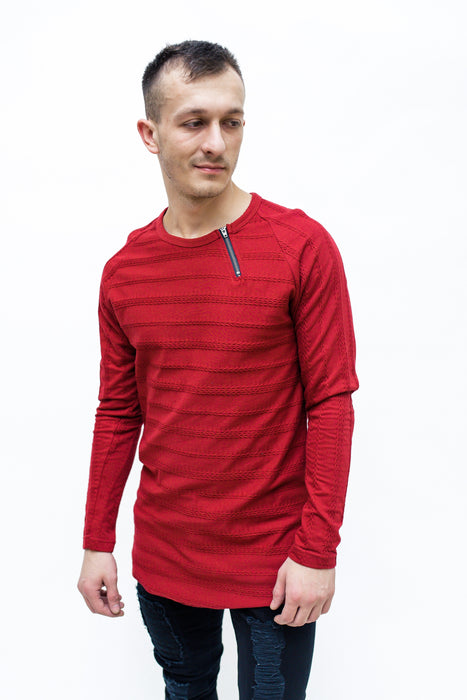 STYLISH SWEATSHIRT IN RED - REVERSE WORLD