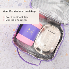 Ever eco Steel Lunchbox and MontiiCo Insulated Lunchbag