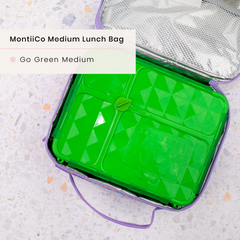 Go Green Medium Lunchbox and MontiiCo Insulated Lunchbag