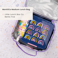 Little Lunchbox Co Bento 5 Lunchbox and MontiiCo Medium Insulated Lunchbag