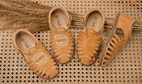 Anchor & Fox Caramel Sandals as sold by Scarlett Tippy Toes