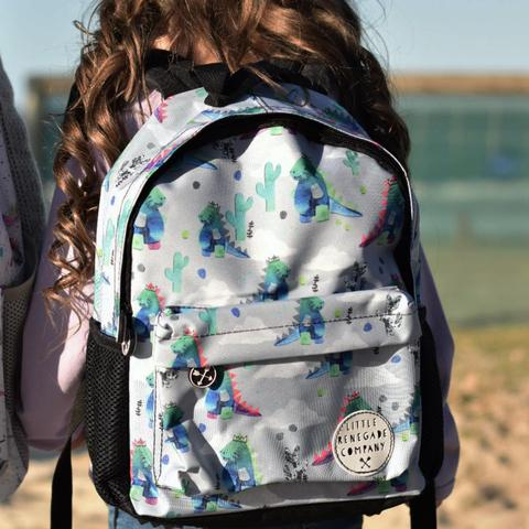 Little Renegade Company Dinosaur Backpack in Midi Size