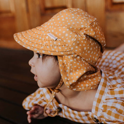 Bedhead Hats Sonny Mustard baby Legionnaire Hat as sold by Scarlett Tippy Toes