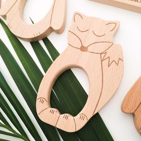 One.Chew.Three Beechwood Teethers as sold by Scarlett Tippy Toes