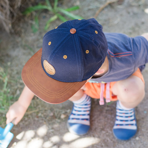 Little Renegade Co Navy Cap as sold by Scarlett Tippy Toes