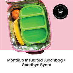 MontiiCo Insulated Lunch Bag with Goodbyn Bynto as sold by Scarlett Tippy Toes