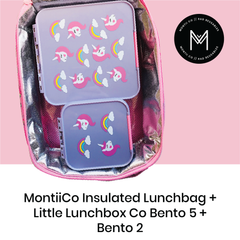 MontiiCo Insulated Lunch Bag with Little Lunchbox Co Bento 5 & Bento 2  as sold by Scarlett Tippy Toes