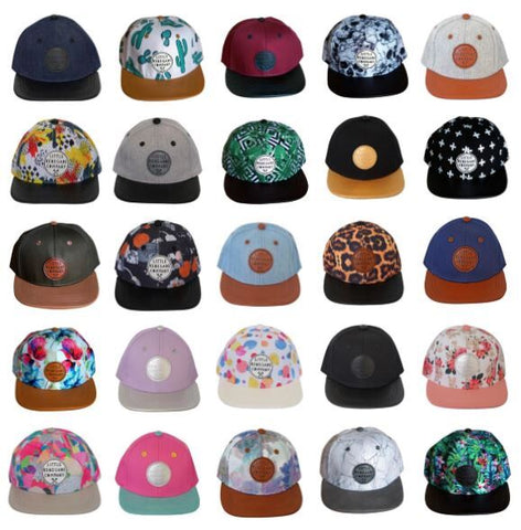 Collection of Little Renegade Company Caps as sold by Scarlett Tippy Toes