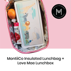 MontiiCo Insulated Lunch Bag with Love Mae Lunchbox as sold by Scarlett Tippy Toes
