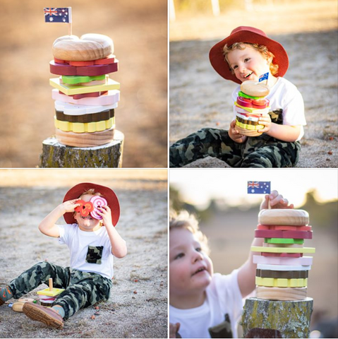Make Me Iconic Stacking Burger as sold by Scarlett Tippy Toes